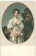 La Cruche Casee J B Greuze Girl Exposed Breast Fine Art Pre-1908 Postcard 22241