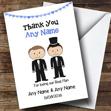 Thank You For Being Our Best Man Personalised Thank You Greetings Card