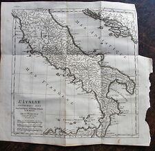 CARTE L'italie, (moitie SUD) POUR L'INTELLIGENCE DE L'HISTOIRE romaine de Rollin