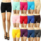 """IUILE 12"""" Seamless Solid Stretch Shorts Spandex Leggings Yoga Biker Exercise NEW"""