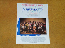 Neil Young,Burton Cummings,etc. NORTHERN LIGHTS sheet music Tears Are Not Enough