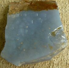 Blue Chalcedony Gemstone Rough Slab from Africa 167 grams