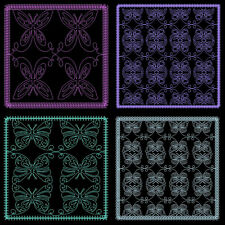FLUTTERS QUILTING BACKGROUNDS -  40 MACHINE EMBROIDERY DESIGNS (AZEB)