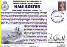 HMS EXETER NAVY SIGNED 1999 REDEDICATION CEREMONY AT PORTSMOUTH NAVAL BASE