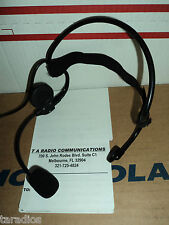 Tactical Behind The Head HEADSET Metal Flex Boom Mic Large PTT MOTOROLA RADIOS