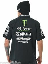 BIKEIT OFFICIAL COSWORTH YAMAHA MONSTER ENERGY RACING TRACK / PADDOCK SHIRT