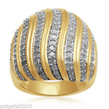 Gold over Brass 2 cttw Genuine Diamond Ring Size 7