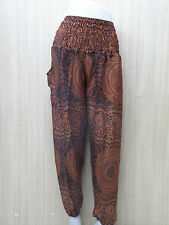 THAI Harem Yoga Pant Baggy Hippy FREESIZE 100%RAYON Handmade Men/Women Unisex