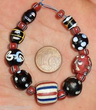 Perles Millefiori Ancien Verre Murano African Antique Venetian Glass Trade Beads