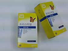 ABBOTT FREESTYLE Medisense Optium Xceed Blood Glucose Test Strips  5s 100T 1box