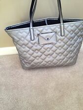 MARC BY MARC JACOBS METROPOLITOTE QUILTED TOTE IN SILVER