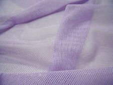 COTTON NET-LILAC-DRESS/CRAFT FABRIC-FREE P&P