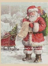 Counted Cross Stitch SANTA CLAUS WITH LIST - COMPLETE KIT- No. 4-306
