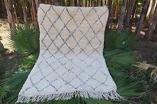 100% Woll Marokkanische Beni Ourain handmade Teppich Grau Rug 240 / 170