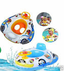 Baby Kids Inflatable Steering Wheel Swimming Trainer Seat Float Ring Car