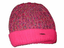 Abercrombie and Fitch Pink Neon Green Confetti Knit Beanie Hat Winter Cap