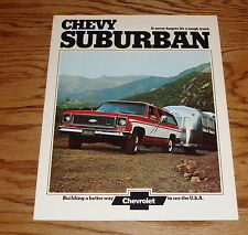 Original 1974 Chevrolet Suburban Sales Brochure 74 Chevy