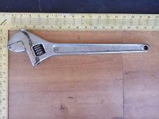 "LARGE Vintage Proto USA 716 16"" Adjustable Chrome Wrench Forged Alloy Steel"
