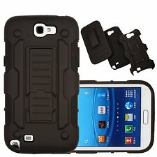 For Samsung Galaxy Note 2 Holster Belt Clip Case With Kickstand Fit Combo Cover