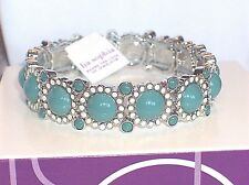 Beautiful Sparkle! Lia Sophia SPARKLER Stretch Bracelet, Rain, NWT