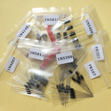 8Value 100pcs Rectifier Diode Diodes Assortment Kit 1N4007 to 1N5822 #1