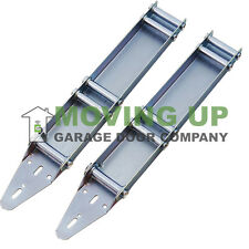 Pair of Garage Door Quick Close Turn Fixtures Brackets Low Headroom