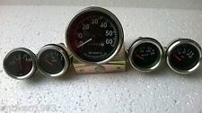 12 v Electrical temp + oil + fuel + Ampere gauge + speedometer fits Willlys Jeep