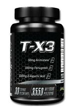 Lecheek Nutrition T-X3 Testosterone Booster 180 Capsules BUILD MUSCLE