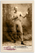 Bob Fitzsimmons Boxing Legend 1894 Cabinet Card Vintage Photo CDV A++ Reprint