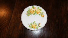 Vintage Royal Albert Bone China England Yellow Tea Rose Scalloped Bread Plate