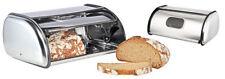 Brotkasten Brottopf Brotbox Rollbrotkasten mit Sichtfenster, aus Edelstahl