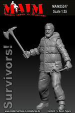 1/35 Scale Resin kit Zombie wars Survivor with Axe