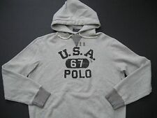 "POLO RALPH LAUREN Men's ""USA 67 POLO"" Cotton Blend Fleece Hoodie M"