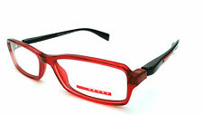 PRADA DESIGNER FRAMES GLASSES VPS04B 53-15-140 COL.RED/BLACK SAVE £££'s 25K F/B*