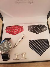Brand New Men`s Watch Gift Occasion Casual Christmas Gift Set Watch Button Tie