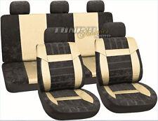 Leder Kunstleder Sitzbezug Sitzbezüge Velour Mix Beige #14 für Honda Dacia Volvo