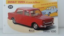 Dinky Toys Atlas - Fascicule SEUL de la Simca 1000 (Booklet only)