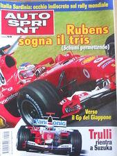 AUTOSPRINT n°40 2004 Gp Giappone Ferrari Schumacher Barrichello Trulli   [P74]