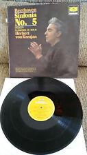"""HERBERT VON KARAJAN BEETHOVEN SINF Nº 5 LP VINYL 12"""" 1963 SPAN FIRST PRESS VG/VG"""
