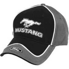 Ford Mustang Licensed Cotton Brim Emblem Black & Gray Hat