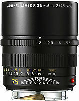 Leica APO-SUMMICRON-M 75mm f/2 Aspherical APO MF Lens