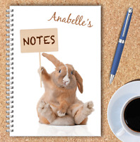 A5 & A4 PERSONALISED NOTEBOOKS, NOTE BOOK, NOTE PAD, 50 LINED OR BLANK /03