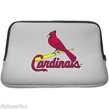 "St. Louis Cardinals MLB Laptop Sleeve Case Bag 15.6"" Notebook PC & Macbook Pro"