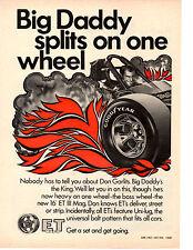 1969 TOP FUEL DRAG RACING - DON GARLITS ~ ORIGINAL ET MAGS AD