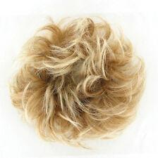 chouchou peruk cheveux blond clair cuivré méché blond clair ref: 17 en 27t613