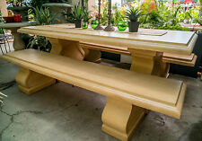 Table Only GRC Outdoor Dining Patio Garden Furniture Normandy Sand Rectangle
