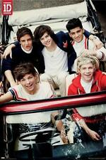 ONE DIRECTION 1D [POSTER] Group Shot Red Car Zayn Harry Louis Liam Niall Band