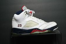 Nike Air Jordan 5 Retro Olympic Sneaker '11 Men 9.5 USA Rio Athletic Basket
