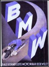 BMW Motorcycle Letters Motorad - Very Sharp Quality Printed Car Poster!!