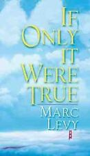 If Only It Were True, Levy, Marc, New Book